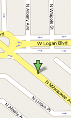 Logan Square Animal Hospital map and directions